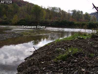 Bob's Brook Outlet into Delaware River - After